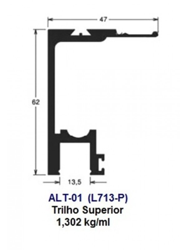 ALT-01 (L713-P) Trilho Superior