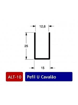 ALT 10- Perfil U cavalão Cor : Bronze (1003)-Preto