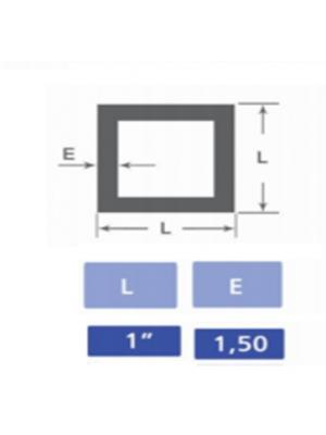 Tubo quadrado 1x1