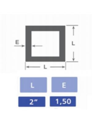 Tubo quadrado 2x2