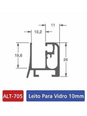 ALT 705 Leito para vidro 10mm