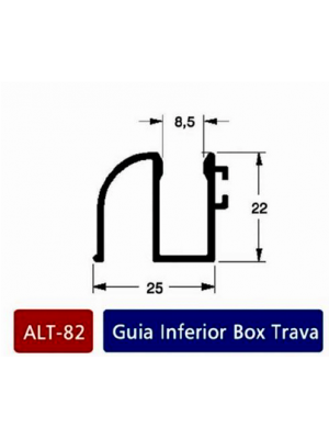 Alt 82 guia inferior box trava