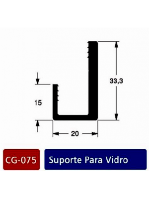 CG075-suporte para vidro